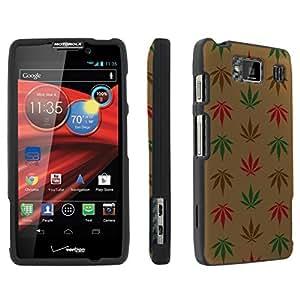SkinGuardz Motorola DROID RAZR HD XT926 Full Protection Designer Hard Case - (Brown Weed Black)