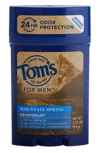Tom s of Maine Men s Long Lasting Deodorant, Mountain Spring, 2.25 Ounce Pack of 4