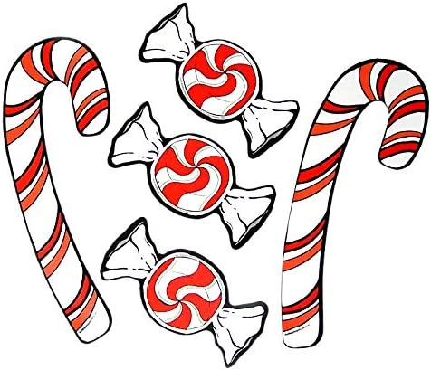 Mad Mags Peppermint and Candy Cane Holiday Car Decorating Kit