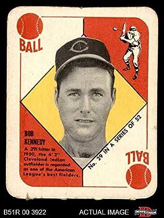 Amazoncom 1951 Topps Red Back 29 Bob Kennedy Cleveland Indians