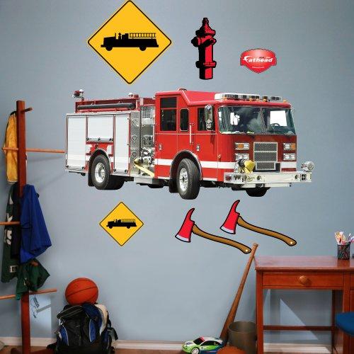 FATHEAD Fire Truck Graphic Wall Décor