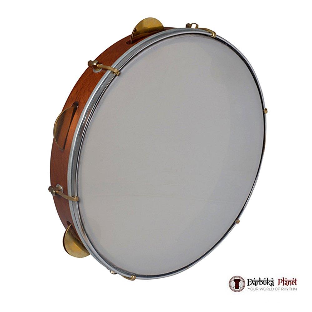 The 14'' Zaza Percussion Professional Wood Bandir Dof - 10 Cymbals