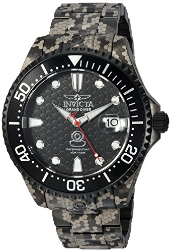 Invicta Men's 'Pro Diver' Automatic Stainless Steel Diving Watch, Color:Black (Model: 24420) Watch Pro Wind Meter