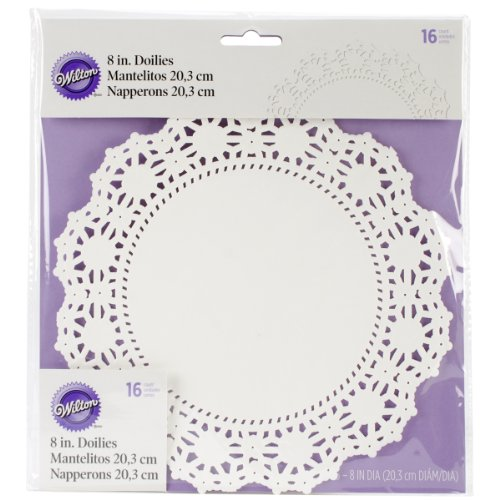 Wilton Greaseproof Doilies, 8-Inch, White Circle, 16-Pack ()
