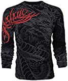 Affliction  Archaic Mens Long Sleeve T-Shirt Dragon Rage Tattoo Biker UFC (X-Large) Black