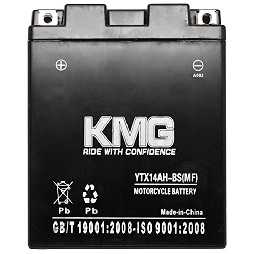 KMG Polaris 550 Sportsman EPS XP 2010-2012 YTX14AH-BS Sealed Maintenace Free Battery High Performance 12V SMF OEM Replacement Maintenance Free Powersport Motorcycle ATV Scooter Snowmobile KMG
