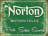 Norton Motorcycles Parts Sales Service steel fridge