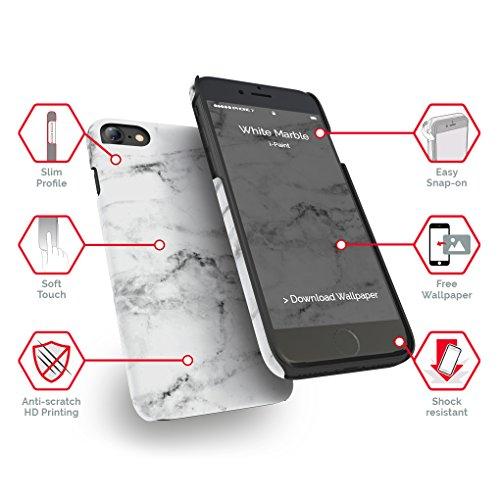 I-Paint Schutzhülle für iPhone 7Motiv Marble White
