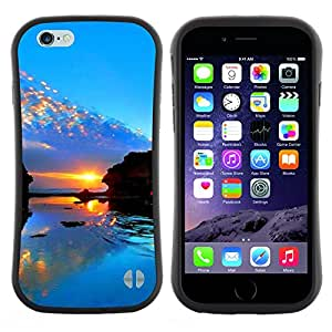 "Hypernova Slim Fit Dual Barniz Protector Caso Case Funda Para Apple (4.7 inches!!!) iPhone 6 / 6S (4.7 INCH) [Sunset Beautiful Nature 98""]"
