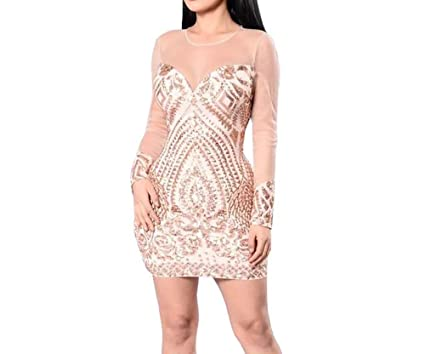 59adc9ab0d Carolina Vega Vestidos Sexys Casuales Cortos Dorados De Fiesta Ropa De Moda  para Mujer 2019 De