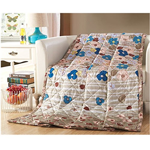 KAKA(TM) Home Comfortable Cotton Blue Flower Comforter for Summer Air-Conditioning Quilt 1PS(180-220cm) by KAKA