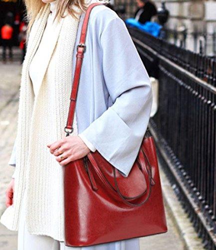 Main Rétro à Tout à Style Sac Lady Sac De Voyage Sac Winered Bandoulière Autour Shopping Mode Messager tgxTqqBw