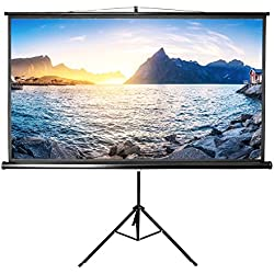 Projector Screen with Stand, LYH Indoor Outdoor Movie Screen 84 Inch Diagonal HD 16:9 with Premium Wrinkle-Free Design (Easy to Installation,160° Degree Viewing Angle)