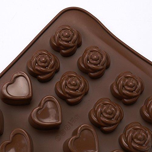 Cdet Silikon Schokolade Form Fondant Mould Silikonform Backen Eisw/ürfelformen DIY Pralinenformen