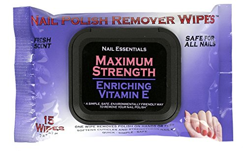 Nail Essentials Nail Polish Remover Wipes - Vitamin E Enriched - Single (Purple Package) (Remover Package)