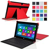 "Surface RT / Surface 2 Case, MoKo Slim-fit Case for Microsoft Surface RT / Surface 2 10.6"" Inch Windows 8 Tablet (fits with or without Type / Touch Keyboard Cover), RED"