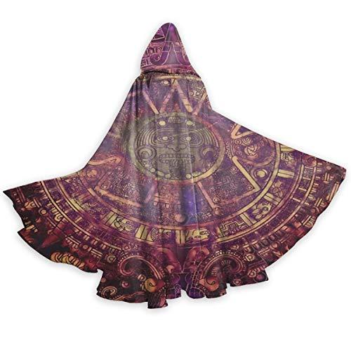 Aztec Costume Halloween (QBahoe Adult Cape Cloak Mandala Native American Aztec Calendar Mayan Luck Sign Unisex Christmas Halloween Witch Party Hooded Cloak)