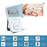Yimaler Baby Monitor Wireless Video with Digital Camera 2 Way Audio 2.4inch Screen Night Vision Temperature Monitoring Lullabies Long Range and High Capacity Battery for Security