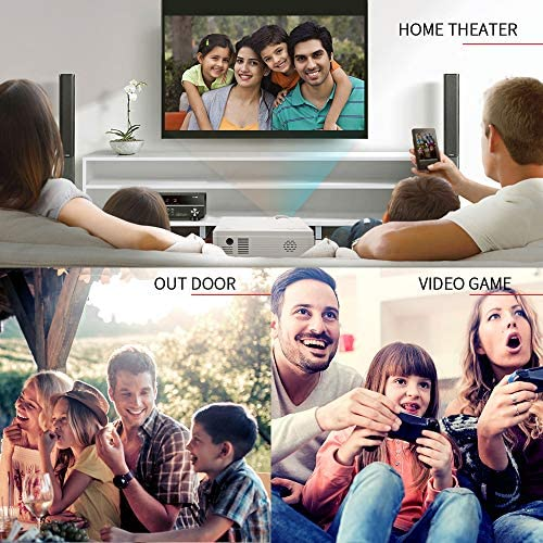 VANKYO LEISURE 3 MINI PROJECTOR, 1080P AND 170'' DISPLAY SUPPORTED, PORTABLE MOVIE PROJECTOR WITH 40,000 HRS LED LAMP LIFE, COMPATIBLE WITH TV STICK, PS4, HDMI, VGA, TF, AV AND USB