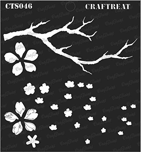 CrafTreat Layered Stencil - Cherry Blossom | Reusable Painting Template for Journal, Notebook, Home Decor, Crafting, DIY Albums, Scrapbook and Printing on Paper, Floor, Wall, Tile, Fabric, Wood 6