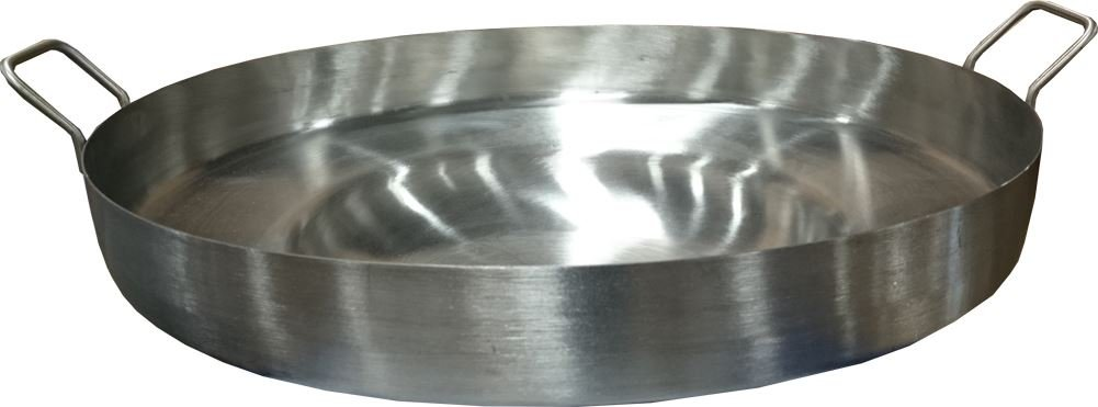 """Acero Ware 22"""" Heavy Duty 5"""" Deep Regular Concave Stainless Steel Comal for Portable Gas Stove"""
