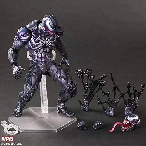 Red Venom Toys Venom Action Figure The Amazing Bjd Joints Movable Venom Figure Model Toy- Complete Series Merchandise - Legends Gifts Movies Comic Toys Collection