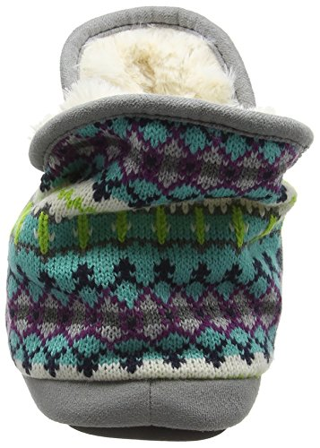 Combo Trim Fairisle Collo 10401 Foam With A Donna And Bootie Microsuede Alto Multicolor Dearfoams Memory cool Pantofole W4wfRnTfxq