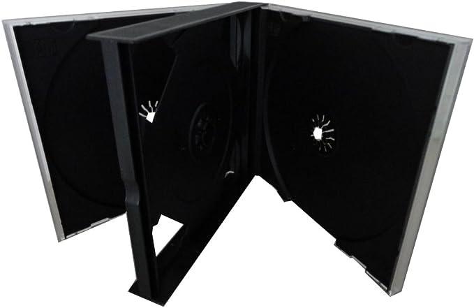 4 Dvd Cd Hüllen 4fach 4er Dvd Box Black Jewelcase Bürobedarf Schreibwaren