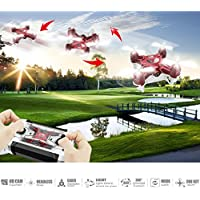 RC Quadcopter Mini Drone, JJRC 4 Channel 2.4GHz 6-Axis Gyro Helicopter with 720P HD Camera LED Lights Headless Mode Toys For Adult Kids Aerial Photography Racing, by ECLEAR