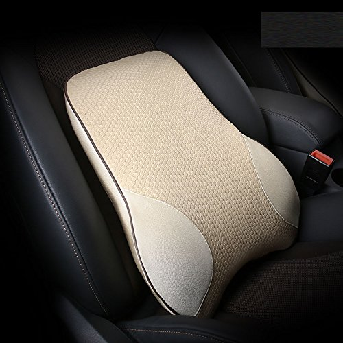 Meiyiu Car Lumbar Back Support Pillow Space Memory Cotton Car Cushion Beige