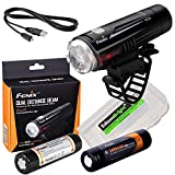 Cheap EdisonBright Long duration bundle: Fenix BC21R 880 lumen Dual Distance Beam Cree XM-L2 T6 LED USB rechargeable Bike Bicycle Light, 2 X rechegeable 18650 batteries with BBX3 battery carry case