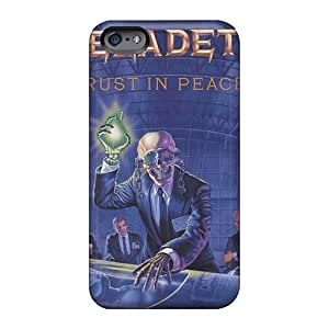 Shockproof Hard Phone Cases For Iphone 6plus (XWE15187bjdu) Support Personal Customs HD Megadeth Band Pattern
