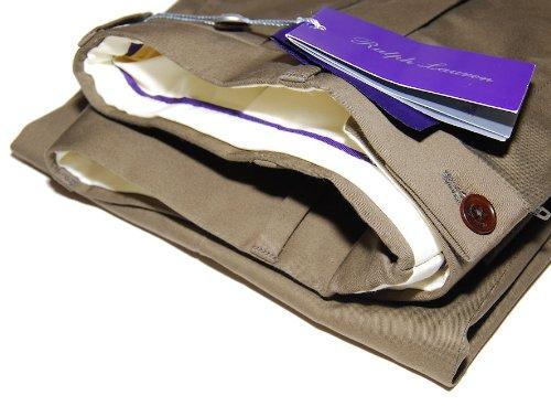 Ralph Lauren Purple Label Mens Brown Pleated Cotton Dress...