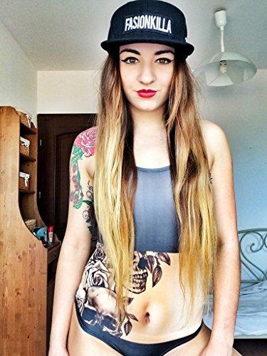 Body para mujer 30 variantes Body [040] Skull Tattoo