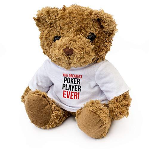 Greatest Poker Player Ever - Teddy Bear - Cute Soft Cuddly - Award Gift Present Birthday Xmas