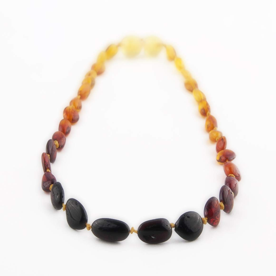 The Art of Cure Baltic Amber Necklace 17 Inch (rainbow bean) - Anti-inflammatory by The Art of Cure
