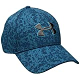 Under Armour Men's Printed Blitzing Stretch Fit Cap, Bayou Blue/Graphite, Large/X-Large