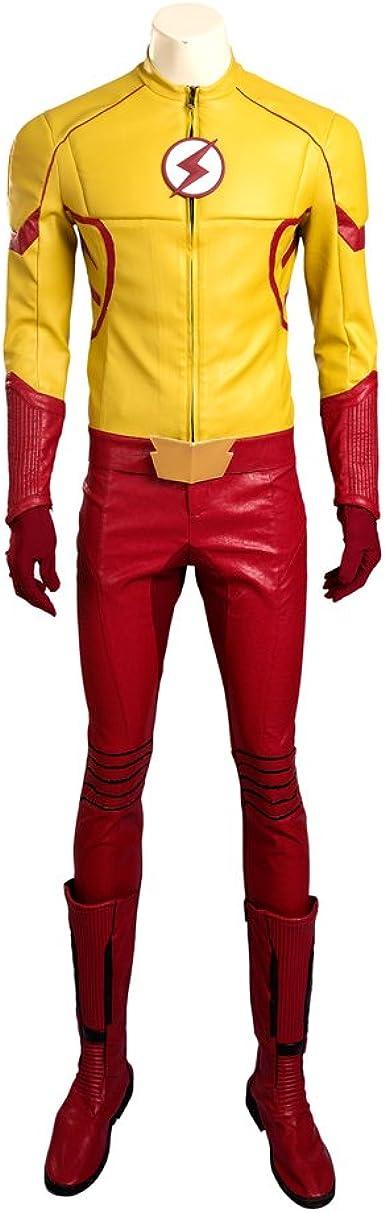 hzym Hombres de la temporada de flash 3 Cosplay Kid Flash Disfraz ...