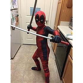 - 516f18P6PEL - AOVEI Kids Onesie Spandex Mask Cosplay 3D Costume Party Movies Halloween Bodysuits