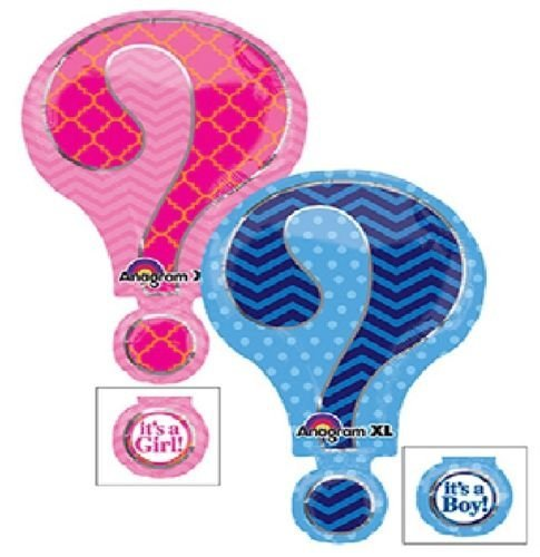 loonballoon Gender Reveal Large Question MarkパーティーベビーシャワーBoy or Girl Mylar Balloon   B01FTXPJ30