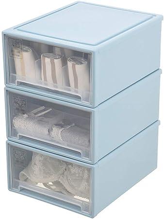 Caja de almacenamiento de ropa interior Caja de almacenamiento de ropa interior-PP, caja de almacenamiento de ropa interior transparente, cajón de plástico, tipo de hogar, ropa interior, calcetines, c: Amazon.es: Hogar