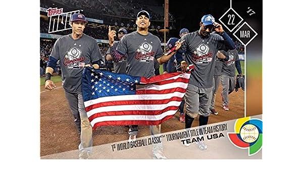 Amazoncom 2017 Topps Now W 58 Team Usa Wins World Baseball