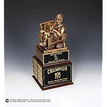 SLD Awards Line Fantasy Football Trophy Award, Perpetual 16 Year, Fan on Chair, Custom ENGRAVED