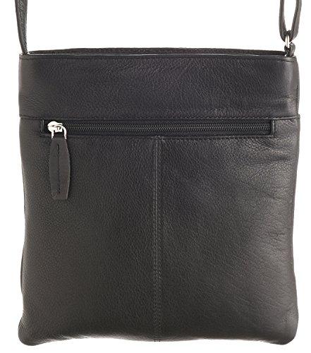 Ladies Black Red Lambland Bag Super Body Leather Shoulder Cross Soft Quality High v4HSwx