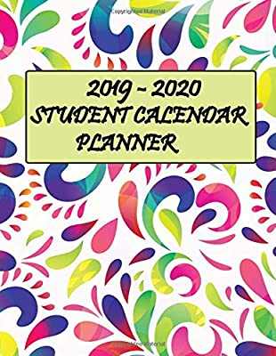 2019 2020 Student Calendar Planner Two Year Planner 24 Month