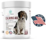 Dog Calming Treats - Contains L Tryptophan for Composure + Dog Anxiety Relief. Calm + Comfort in Stressful Situations + Separation Anxiety.100 Soft Chews. Proudly Made in USA.