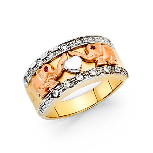Elephant Tri Color Ring - 8