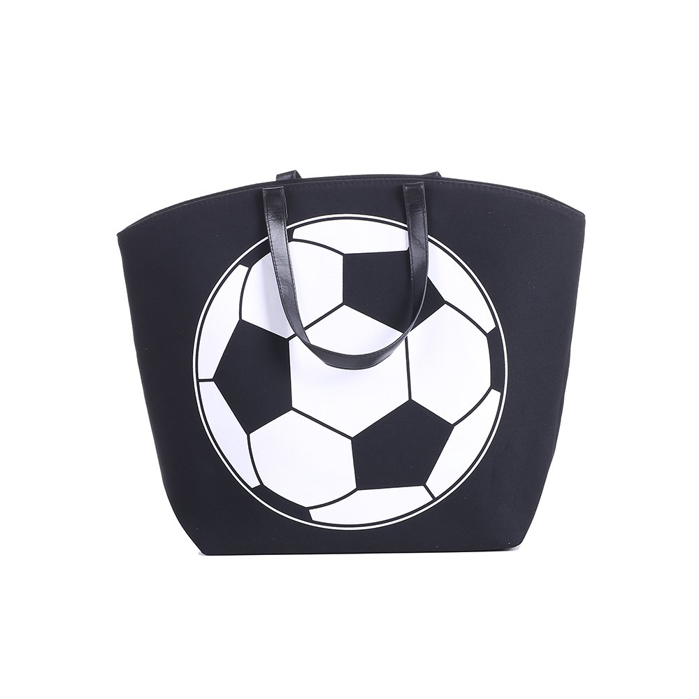 E-FirstFeeling Large Soccer Tote Bag Sports Prints Tote Soccer Mom Travel Bag (Soccer) by E-FirstFeeling (Image #3)