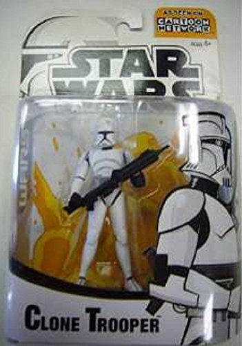 Star Wars Wars Clone Figures (Star Wars Animated Clone Wars Clone Trooper Action Figure (Colors May Vary))
