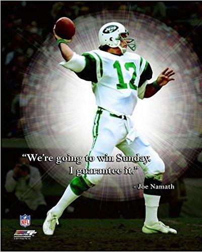 Joe Namath New York Jets ProQuotes Photo (Size  12